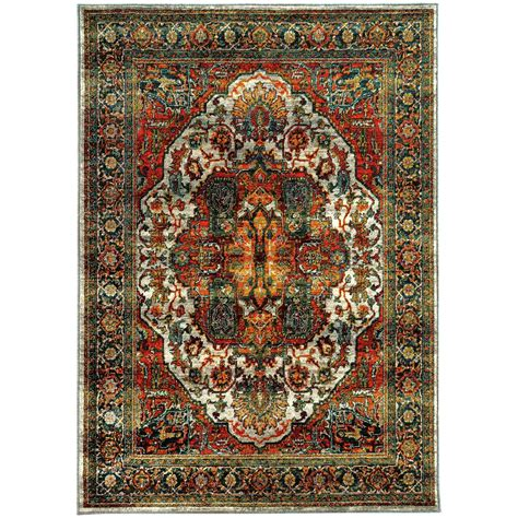 10 x 13 ft area rug home decorators collection flanders rust 10 ft x 13 ft