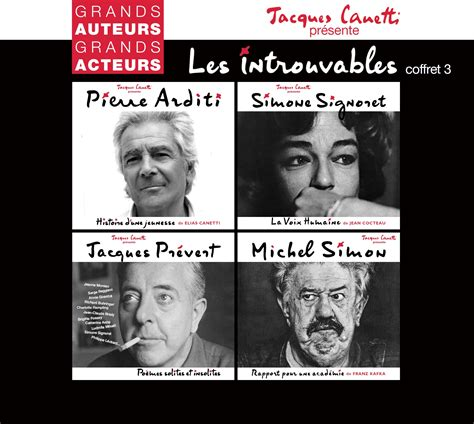 pierre arditi elias canetti les introuvables volume 3 4 cd productions jacques canetti