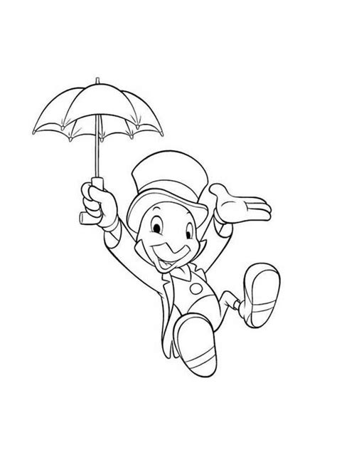 disney coloring pages jiminy cricket jiminy cricket tattoo pinterest coloring search and mom
