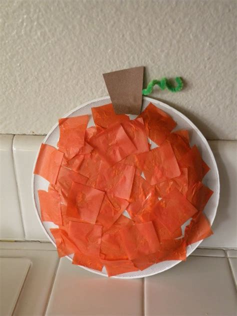 Pumpkin Construction Paper Crafts - preschool daycare by tbachand5 on tracing