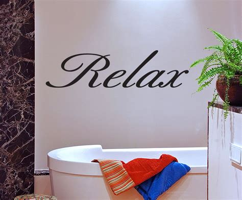 bathroom vinyl wall art relax vinyl wall quote decal bathroom decor wall sticker