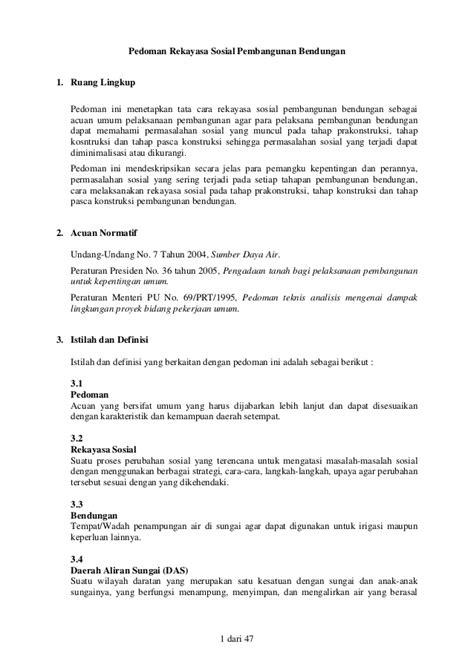 Rekayasa Sosial 1 permen pu nomor 3 tahun 2009 tentang pedoman rekayasa