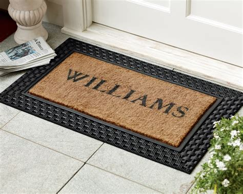 customised rubber st door mats welcome quot quot sc quot 1 quot st quot quot home depot
