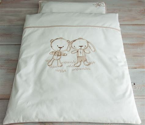 baby 4pc bedding set pillow and duvet with covers pram