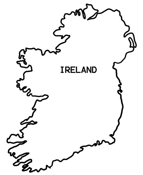 ireland coloring pages map of ireland coloring page coloring home
