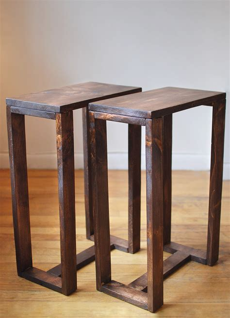 Side Table by Pair Of Thin Side Tables End Tables Nightstands Pedestal
