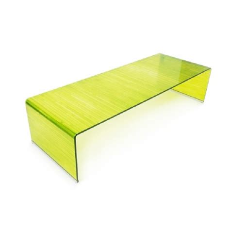 Chartreuse Curved Glass Coffee Table Curved Glass Coffee Table