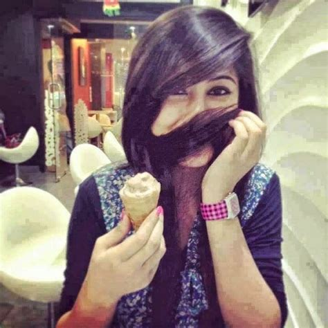 indian girls hide face ice cream girl hide face with hair facebook dp