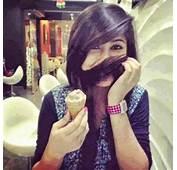 Ice Cream Girl Hide Face With Hair  Facebook DP