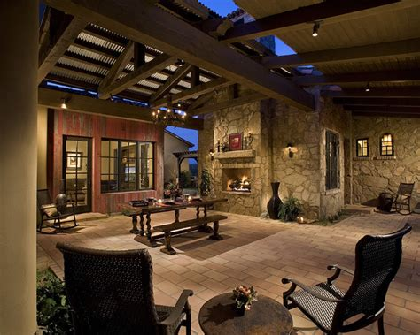 Houzz Outdoor Dining Room Outdoor Dining Room Mediterranean Patio By