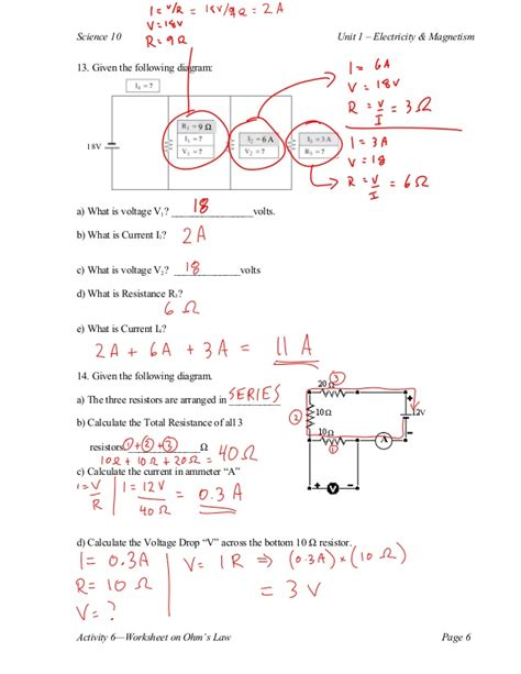 calculating resistors worksheet calculating resistors worksheet 28 images ohm s s calculations resistors basic electricity