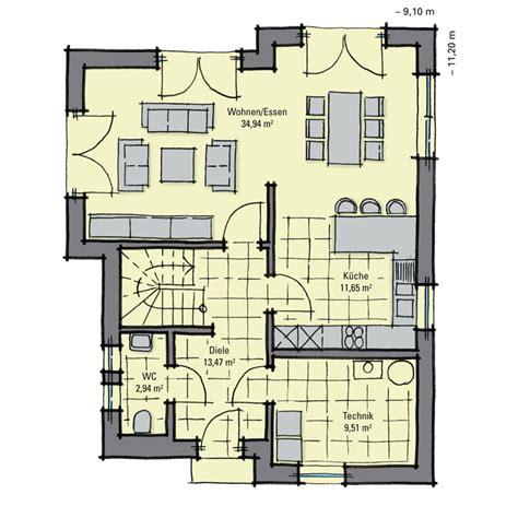 Grundriss Eg Einfamilienhaus by Einfamilienhaus Guenstig Bauen Eschenallee Mit