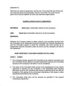 consulting agreements template 5 consulting contract templates free word pdf