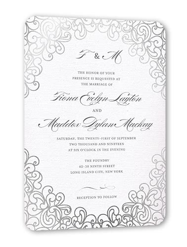 dazzling lace 5x7 wedding invitation cards shutterfly