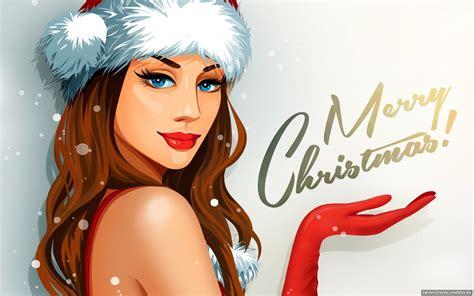 wallpaper vector girl merry christmas vector girl wallpaper wallpapers new hd