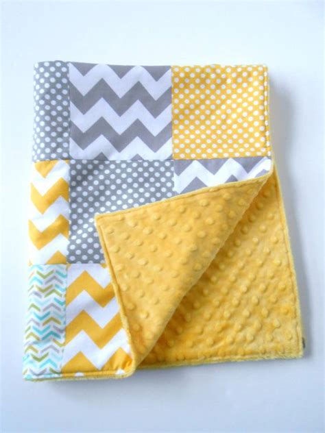 Patchwork For Babies - minky baby patchwork quilt blanket chevrons