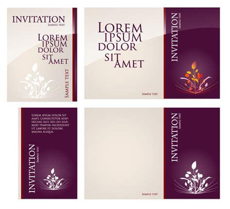 invitation card design vector invitation card background free vector graphic download