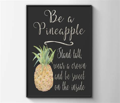 Inspirational Quotes Home Decor Popular Items For Pineapple Home Decor On Etsy Be A Print Inspirational Quote Clipgoo