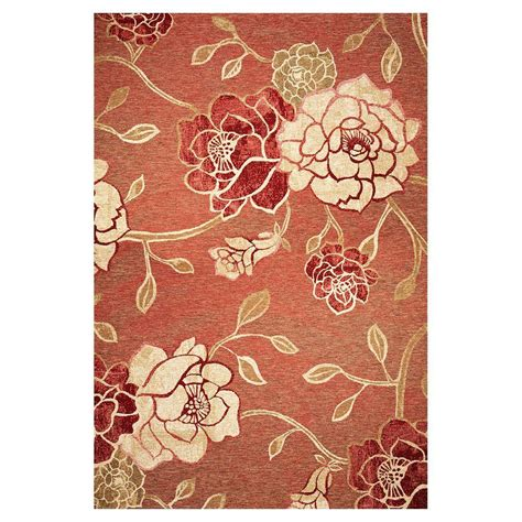 3 X 4 Area Rugs Kas Rugs Natures Flower Brick 3 Ft 4 In X 4 Ft 11 In Area Rug Hor570834x411 The Home Depot