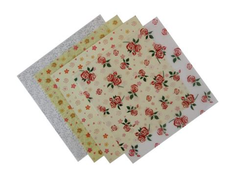 Patterned Craft Paper Uk - patterned floral vellum paper 4 sheets craft factory