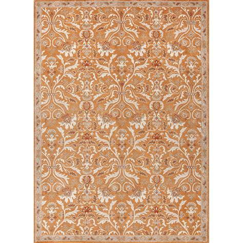 Pattern Area Rugs Classic Pattern Orange Ivory Wool Area Rug 9 6x13 6 Walmart