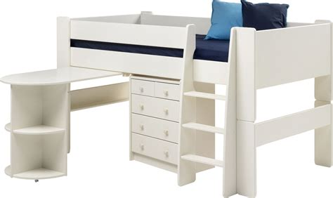 steens for white mid sleeper mattress pull out desk