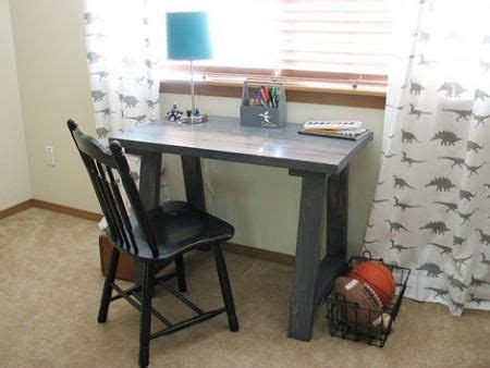 Simple Small Trestle Desk Creative Spaces Pinterest Simple Diy Desk