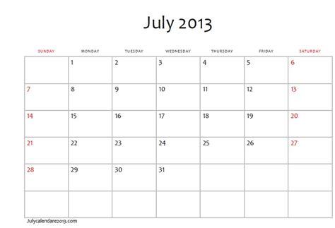 Calendar July 2013 Ranting And Raving July 2013