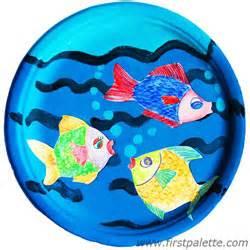 paper plate fish bowl craft kids crafts firstpalette com