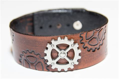 Handmade Leather Cuffs - custom leather bracelets and cuffs techleathercraft