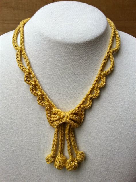 necklace pattern pinterest stitch story new free crochet jewelry patterns for kreinik