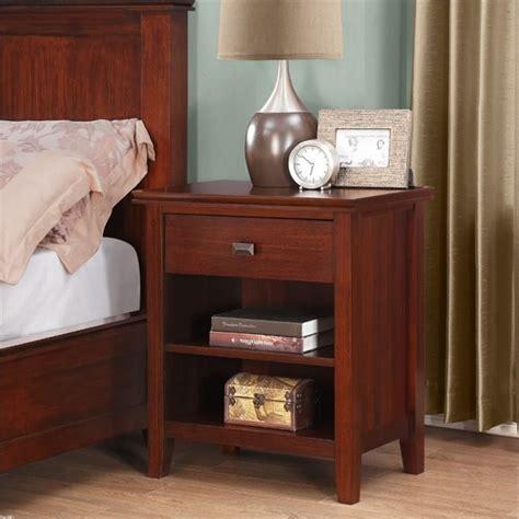 bedroom furniture auburn nightstand in auburn brown 3axcart 02