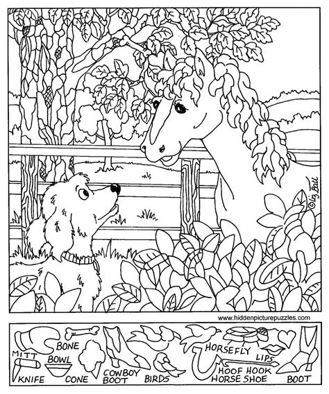 hidden pictures page print your hidden pictures horse