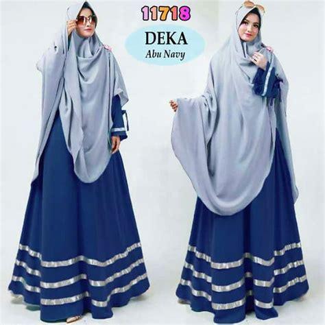 Baju Syari Anak Nastusha Abu Sw Baju Muslim Anak Perempuan Jersey Abu gamis jumbo syari kekinian deka abu navy model baju gamis terbaru