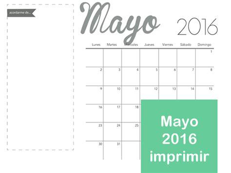 almanaque mayo 2016 mes de mayo 2016 para imprimir manualidades