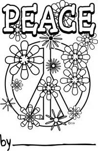 color for peace coloring pages of peace signs printable coloring pages