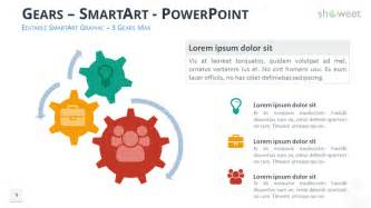 The First Light Bulb Gears Diagrams For Powerpoint Showeet Com