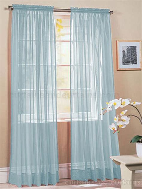 Light Blue Sheer Curtains Light Blue Curtains Curtains Blinds
