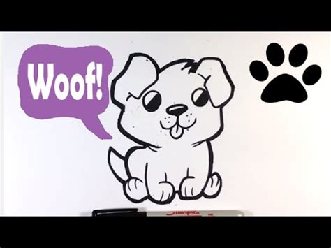 draw  cute dog easy pictures  draw youtube