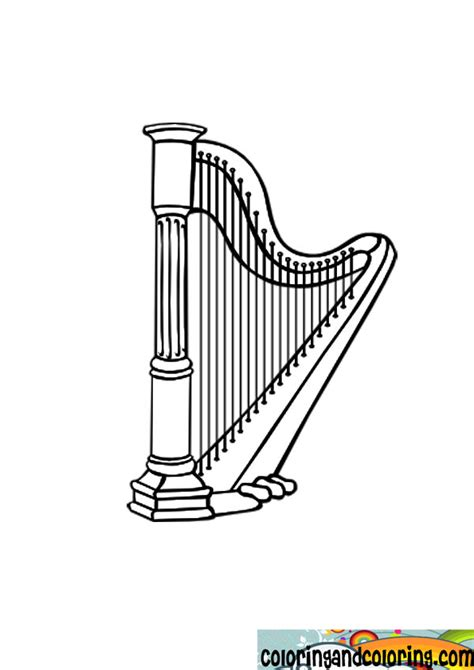 free coloring pages of harp