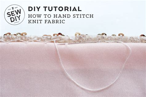 how to sew knit fabric on a sewing machine how to stitch knit fabric sew diy