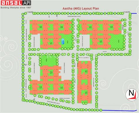 layout plan of ansal api lucknow 1075 sq ft 2 bhk 2t apartment for sale in ansal api aastha