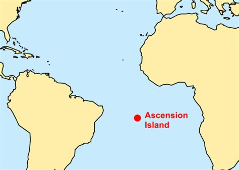 ascension island map pin ascension island map and satellite images on
