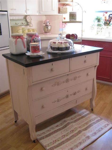 Upcycled Kitchen Ideas Upcycled Dresser Kitchen Island Idea Upcycling And Recycling Ideas Pinterest Dresser