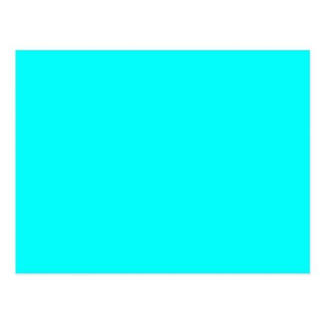 Bright Neon Blue Color by Neon Aqua Blue Bright Turquoise Color Trend Blank Postcard