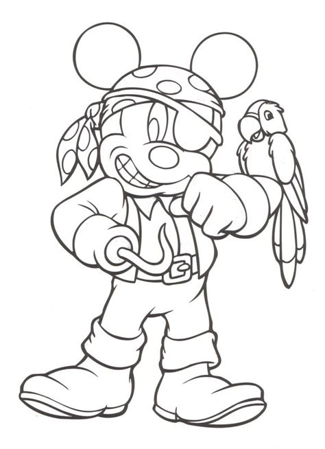 pirates of the caribbean mickey mouse disney coloring