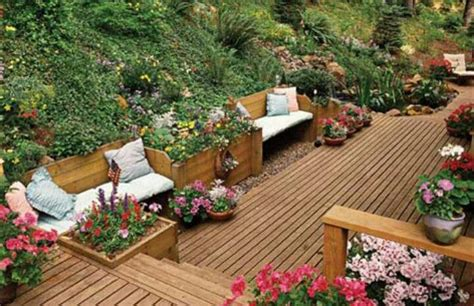 building a deck on a sloped backyard sloped yard deck the great outdoors pinterest