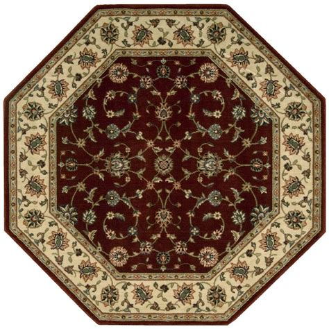 7 By 9 Area Rugs Nourison Arts Brick 7 Ft 9 In X 7 Ft 9 In Octagon Area Rug 696199 The Home Depot