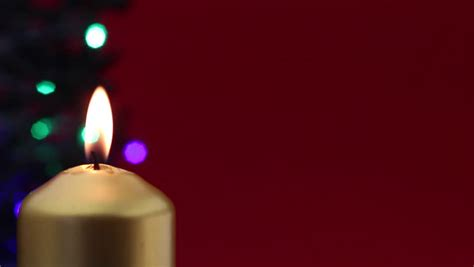 lighting a second advent candle stock footage