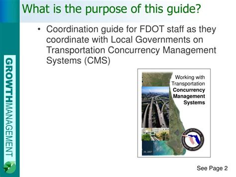 What Is The Purpose Of The Department Of Interior by Ppt Working With Transportation Concurrency Management Systems Powerpoint Presentation Id